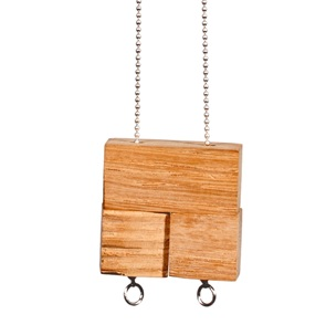 3 block Necklace Beech