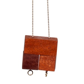 3 block Necklace Mahogany