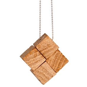 4 block Necklace Beech