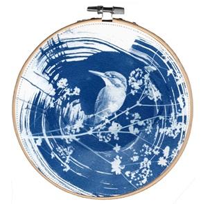 Blue bird L 9 Kunstwerkje