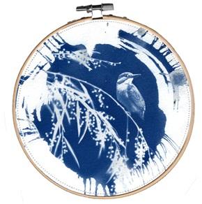 Blue bird L 8 Kunstwerkje
