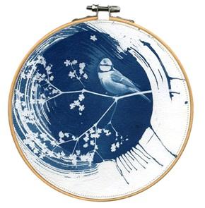 Blue bird L 6 Kunstwerkje