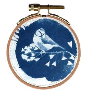 VERKOCHT Blue bird S 1 Kunstwerkje