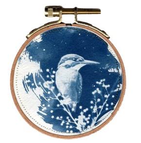 VERKOCHT Blue bird S 3 Kunstwerkje