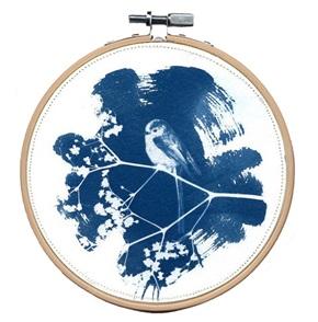 VERKOCHT Blue bird M 8 Kunstwerkje