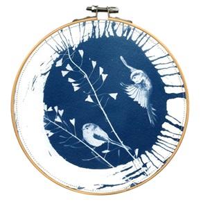 VERKOCHT Blue bird L 1 Kunstwerkje