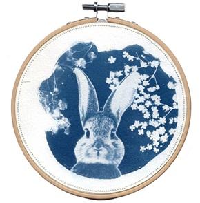 VERKOCHT Blue Rabbit M 11 Kunstwerkje