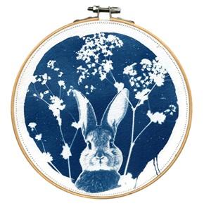VERKOCHT Blue Rabbit L 3 Kunstwerkje