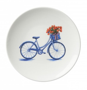 Plate Bike flowers