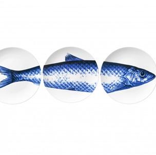 3 plates Fish