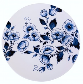 Plate Flowers white