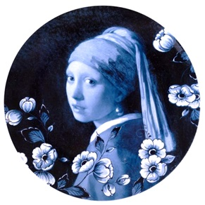 Plate Girl with the pearl earring