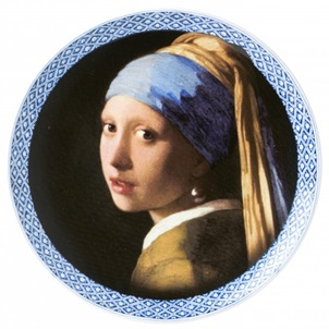 Plate modern Girl with the pearl earring
