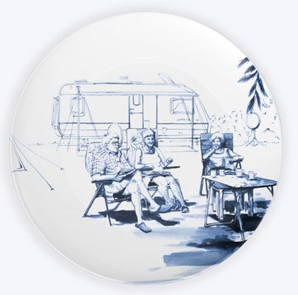 Plate At the camping