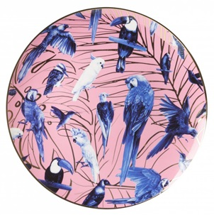 Plate Tropical birds