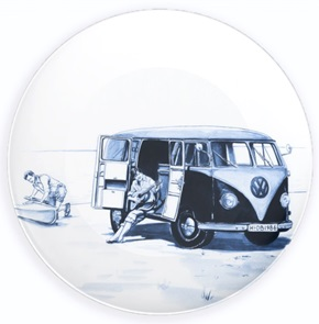 Plate With the van