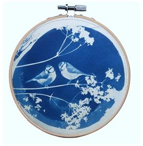 SOLD Blue bird L Artwork G