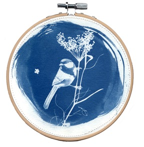 SOLD Blue bird M Artwork I