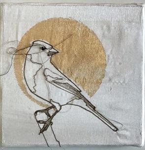VERKOCHT Kunstwerkje Birds L