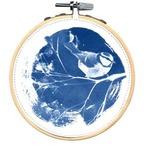 SOLD Blue bird M Artwork L