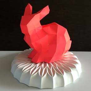 Paper kit Bunny neon red