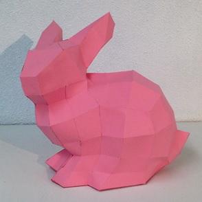 Paper kit Bunny roze*