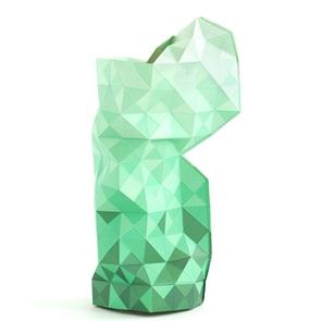 Paper Vase gradient green