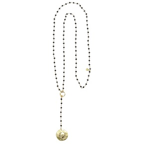 Rosary Long Shell black necklace*