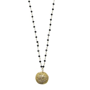 Rosary Lotus black ketting*
