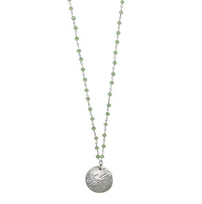 Rosary Dragonfly green necklace