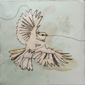 VERKOCHT Kunstwerkje Birds E