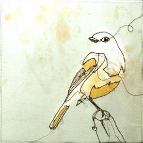VERKOCHT Kunstwerkje Birds F