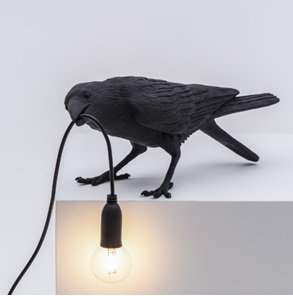 Vogel-lamp playing zwart