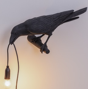 Vogel-lamp looking zwart