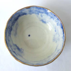 Bowl blue en gold