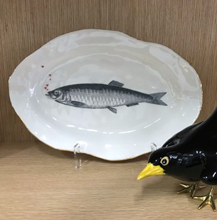 Bord Vis hartjes goud