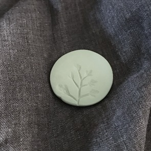 Plant Brooch green