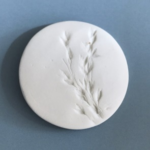 Plant Brooch white