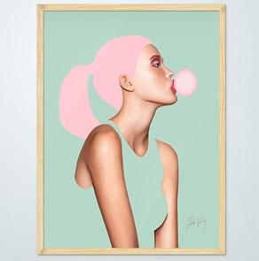 Art-print Bubblegum
