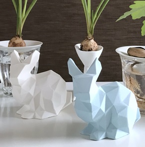 Porcelain bunny light blue
