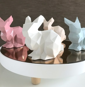 Porcelain bunny light pink