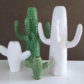 Cactus vase White small
