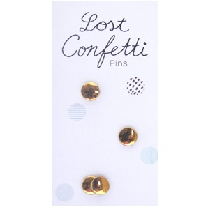 Lost confetti pins Gold