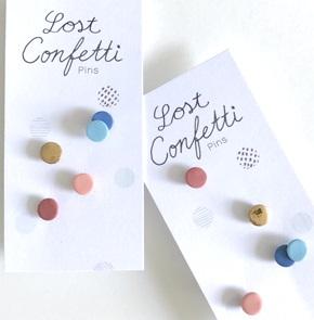 Lost confetti A special pins