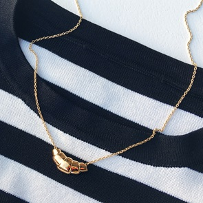 Croissant ketting Gold*