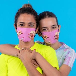 Face mask Lipstick pink S/M*