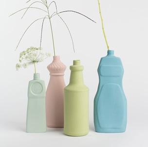 Bottle Vase # 18 dustymint