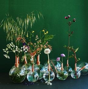 Glasilium vaas groen 20 cm