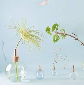 Glasilium vaas groen 8,5 cm