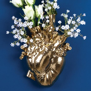 Love in Bloom vase Gold